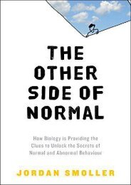 ePub Download The Other Side of Normal: How Biology Is Providing the Clues to Unlock the Secrets of Normal and Abnormal Behavior Full Mobi