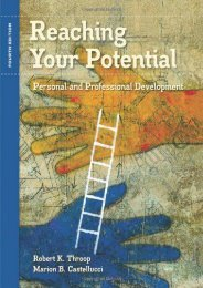 PdF Download Reaching Your Potential: Personal and Professional Development (Textbook-specific CSFI) Full Books
