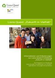 Lions-Quest Broschüre Zukunft in Vielfalt - Informationen zur Fortbildung