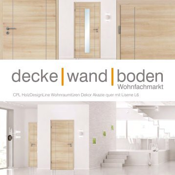 dwb Wohnraumtüren CPL Holz Design Line mit Lisene L6 Akazie quer