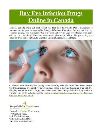 Buy Eye Infection Drugs Online in Canada