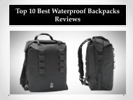 Top 10 Best Waterproof Backpacks Reviews