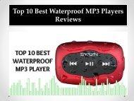 Top 10 Best Waterproof MP3 Players Reviews
