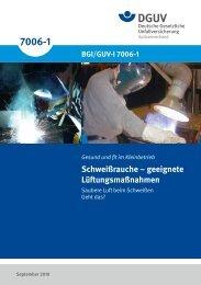 Schweißrauche - Geeignete Lüftungsmaßnahmen - Deutsche ...