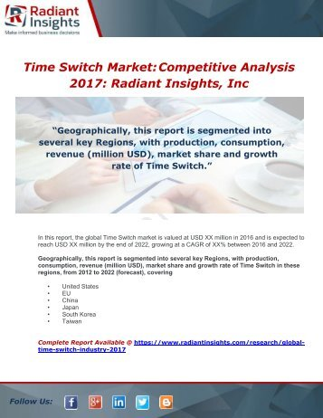 Global Time Switch Industry 2017 Market Research Report