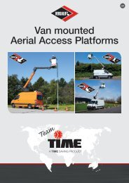 Versalift Van mounted Aerial Access Platforms