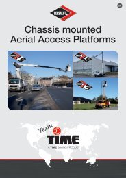 Versalift Chassis mounted Aerial Access Platforms