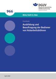 BGG/GUV-G 966 - Deutsche Gesetzliche Unfallversicherung