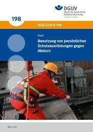 BGR/GUV-R 198 - Deutsche Gesetzliche Unfallversicherung