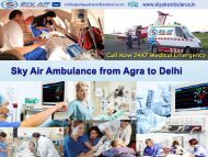 Get an Emergency Sky Air Ambulance from Patna to Delhi at an Economical Fare ppt ashish11