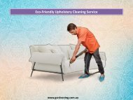 Eco-Friendly Upholstery Cleaning Service - GSR Cleaning