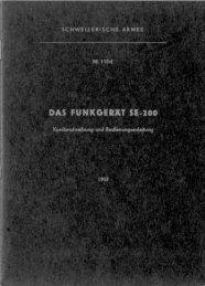 Funkstation SE-200, Regl. 58.110 d - armyradio.ch