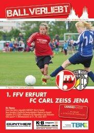 BALLVERLIEBT - Das Stadionmagazin des 1. FFV Erfurt