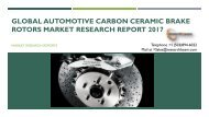 Global Automotive Carbon Ceramic Brake Rotors Market Research