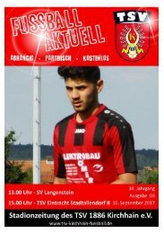10.09.2017 - TSV Eintr. Stadtallendorf II - SV Langenstein