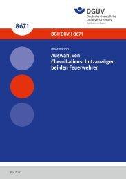BGI/GUV-I 8671 - Deutsche Gesetzliche Unfallversicherung