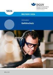 Gehörschutz (BGI/GUV-I 5024) - Deutsche Gesetzliche ...