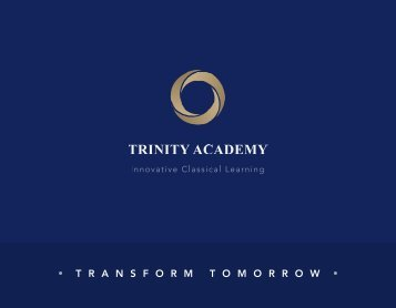 Trinity Academy Transform Tomorrow Admissions Brochure