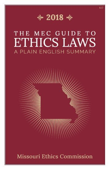 Guide to Ethics Law 2018- PMS7622- Final Review Draft-Full Page