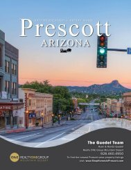 2018 Prescott Relocation Guide -The Guedel Team