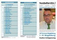 Programm 2017/18 FS-Spiel SV Fortuna Magdeburg - 1. FC Magdeburg