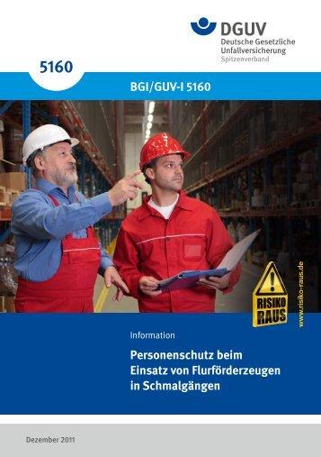 BGI/GUV-I 5160 - Deutsche Gesetzliche Unfallversicherung