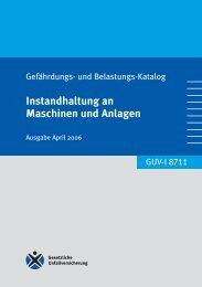 Instandhaltung an Maschinen und Anlagen - Unfallkasse NRW