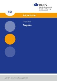 Treppen (BGI/GUV-I 561) - Deutsche Gesetzliche Unfallversicherung