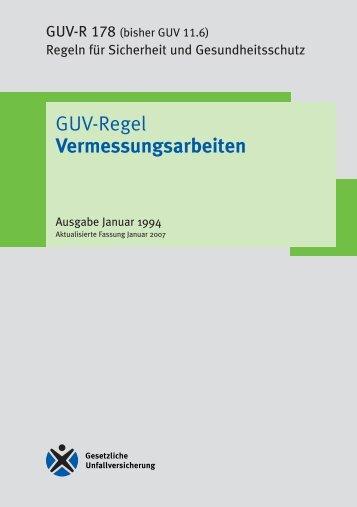 GUV-R 178 Regel Vermessungsarbeiten - Unfallkasse NRW