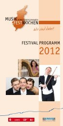 Gut gewählt... - Musikfestwochen Donau Oberschwaben
