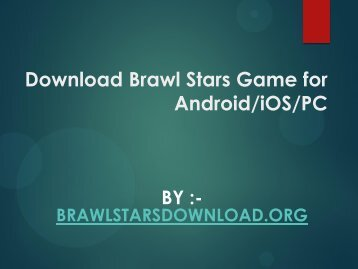 Download Brawl Stars Game for Android-iOS-Pc