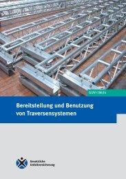 GUV-I 8634 - Regelwerk des Bundesverbandes der Unfallkassen