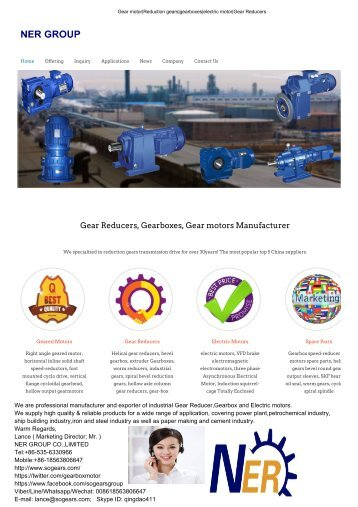 Instructions of DBY, DCY Column Gear Reducer