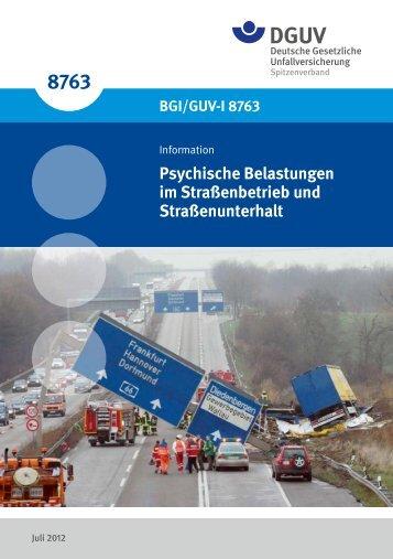 BGI/GUV-I 8763 - Deutsche Gesetzliche Unfallversicherung