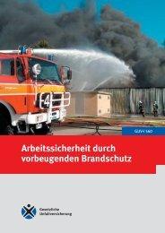GUV-I 560 - Arbeitssicherheit durch vorbeugenden Brandschutz ...