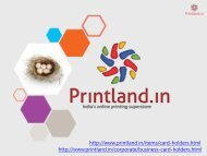 PrintLand.in - Buy Online Business Visiting Cards Holder with Custom Name Printed in India