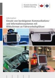 Einsatz von bordeigenen Kommunikations - Deutsche Gesetzliche ...