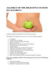 ALLERGY OF THE DIGESTIVE SYSTEM (GI ALLERGY)