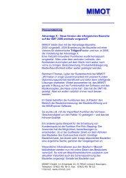 Pressemitteilung - MIMOT Advantage X - Mimot.com