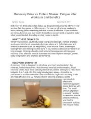 Recovery Drink vs Protein Shakes - Fatigue after Workouts and Benefits