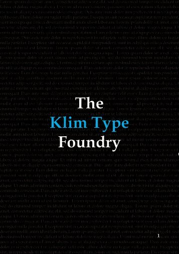 The Klim Type Foundry 01