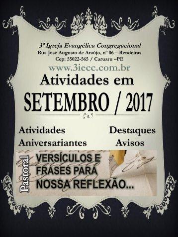 3ªIECC - Atividades Setembro 2017