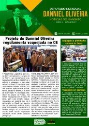 Informativo Danniel Oliveira - Setembro 2017