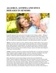 ALLERGY, ASTHMA AND SINUS DISEASES IN SENIORS