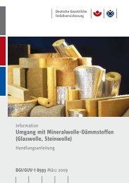 Umgang mit Mineralwolle-Dämmstoffen - Deutsche Gesetzliche ...