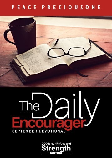 THE DAILY ENCOURAGER - SEPTEMBER EDITION