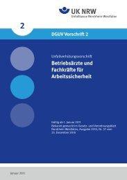 DGUV Vorschrift 2 - Regelwerk des Bundesverbandes der ...