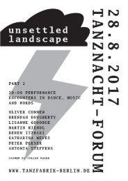 Programme // Tanznacht-Forum / Part 2