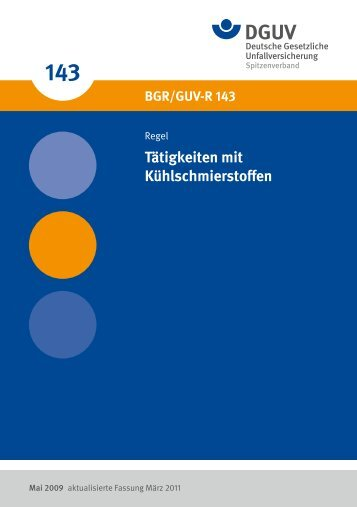 BGR/GUV-R 143 - Deutsche Gesetzliche Unfallversicherung