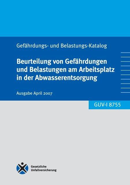 GUV-I 8755 Beurteilung von Gefährdungen und Belastungen am ...